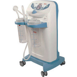 Aspiratore chirurgico su carrello clinic plus - a pedale e deviatore flusso - 230v - 2x4lt - 60lt/mi