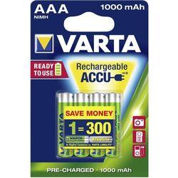 Batterie ministilo 1,5v ricaricabile 1000 mah - varta - tipo aaa - blister 2pz