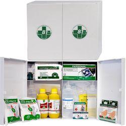 Kit pronto soccorso - armadietto plastica - 45x38x13cm - allegato 1 - oltre 2 lavoratori