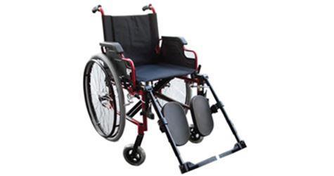 Sedia a rotelle carrozzina pieghevole in alluminio for Larghezza sedia a rotelle